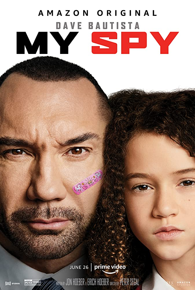 Dave Bautista and Chloe Coleman in My Spy (2020)