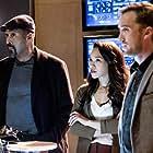 Tom Felton, Jesse L. Martin, and Candice Patton in The Flash (2014)
