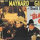 Hoot Gibson, Charles King, LeRoy Mason, Ken Maynard, and Charles Murray Jr. in Blazing Guns (1943)