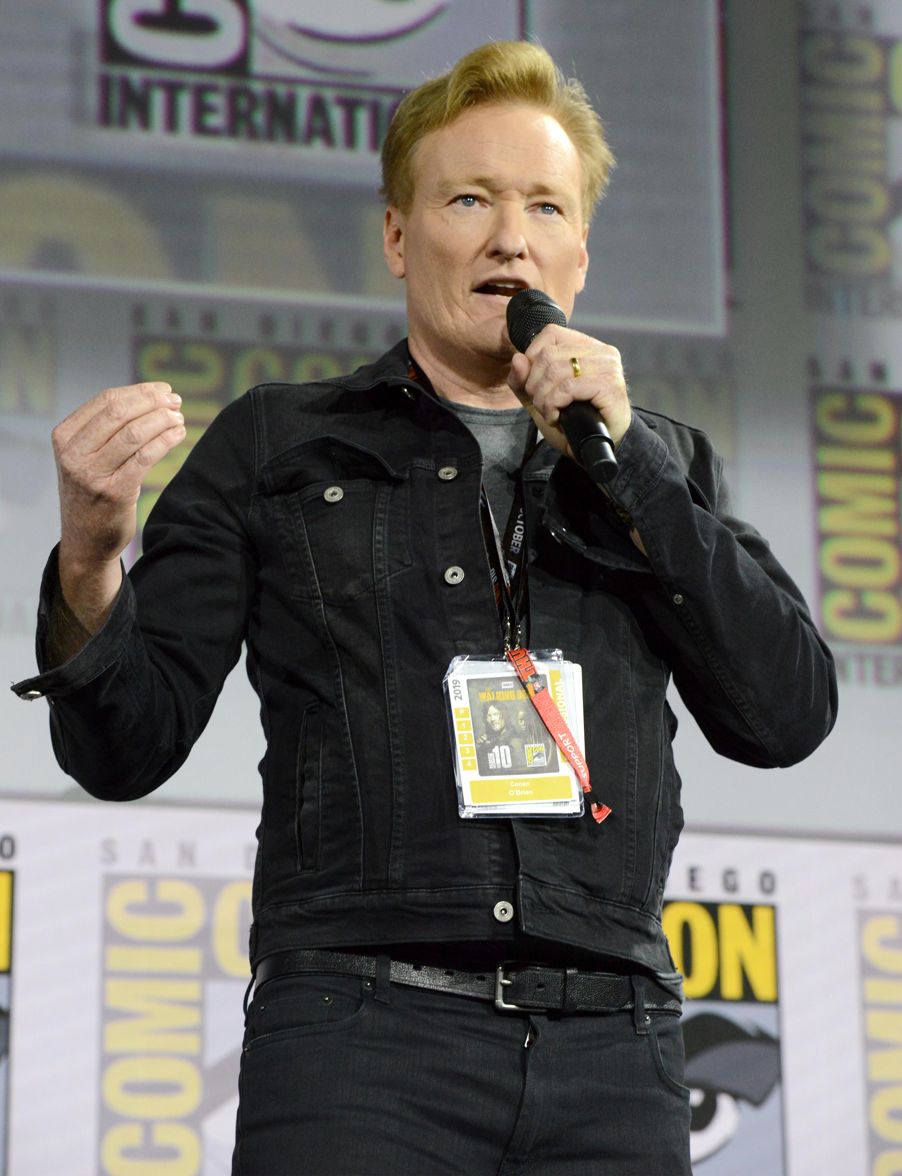Conan O'Brien at an event for Top Gun: Maverick (2021)