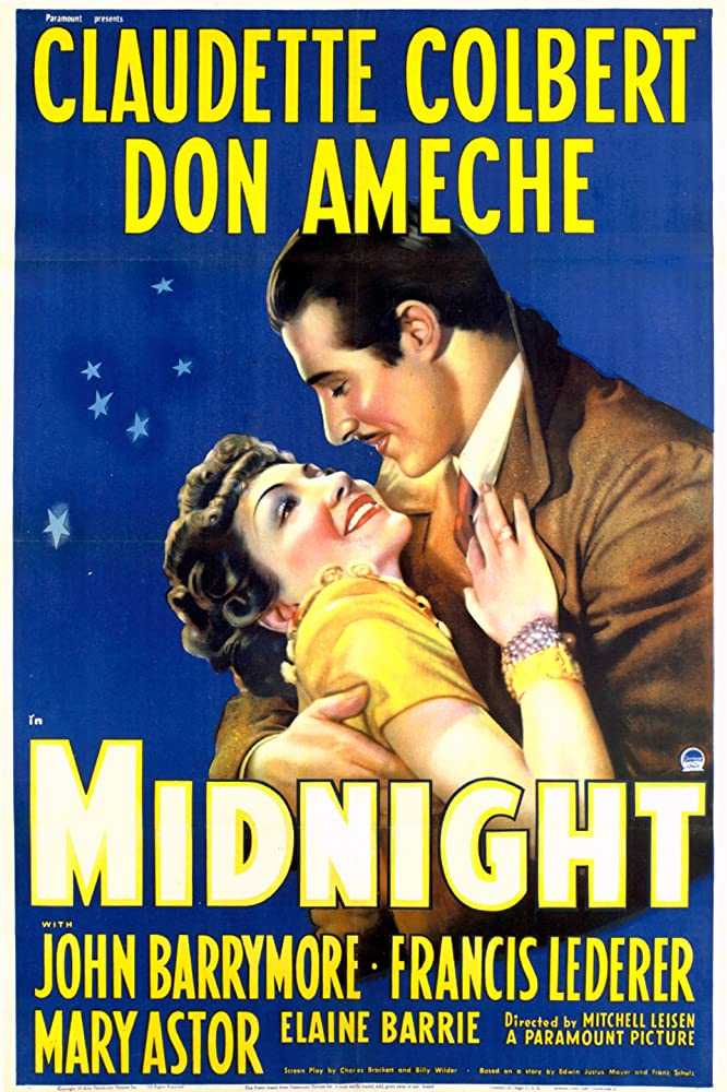 Don Ameche and Claudette Colbert in Midnight (1939)