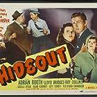 Lloyd Bridges, Alan Carney, Lorna Gray, and Sheila Ryan in Hideout (1949)
