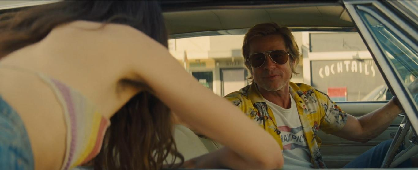 Brad Pitt and Margaret Qualley in Once Upon a Time... in Hollywood (2019)