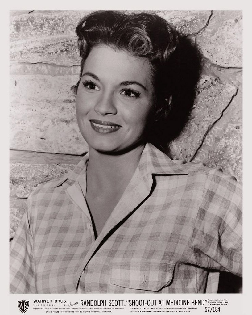 Angie Dickinson in Shoot-Out at Medicine Bend (1957)