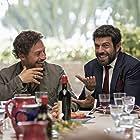 Stefano Accorsi and Pierfrancesco Favino in A casa tutti bene (2018)