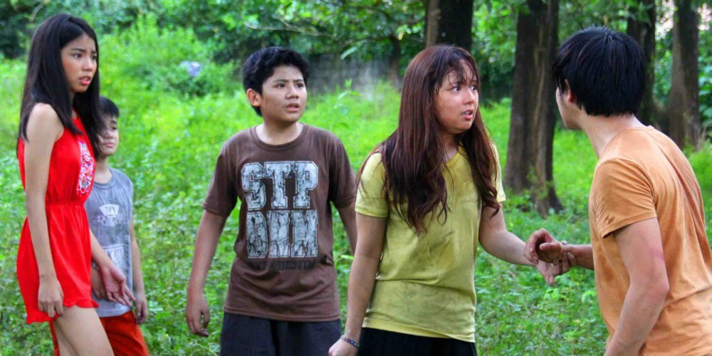 Jhiz Deocareza, Therese Malvar, David Remo, and Inah de Belen in Oh, My Mama! (2016)