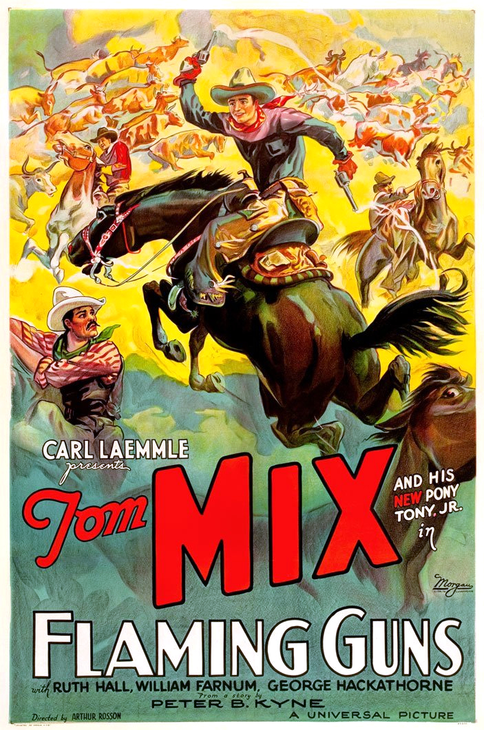 Tom Mix and Tony Jr. the Horse in Flaming Guns (1932)