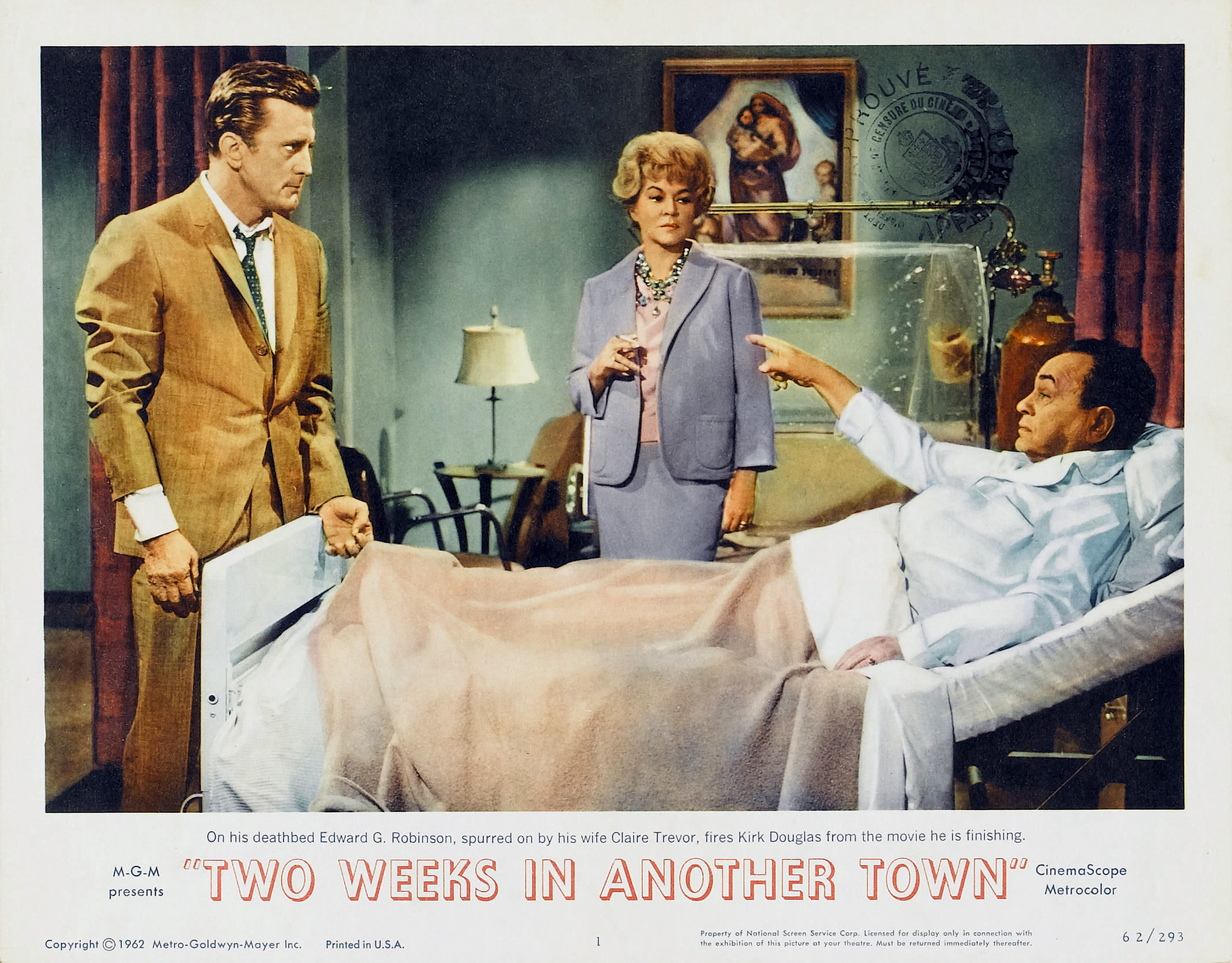 Kirk Douglas, Edward G. Robinson, and Claire Trevor in Two Weeks in Another Town (1962)