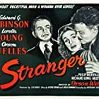 Edward G. Robinson, Orson Welles, and Loretta Young in The Stranger (1946)