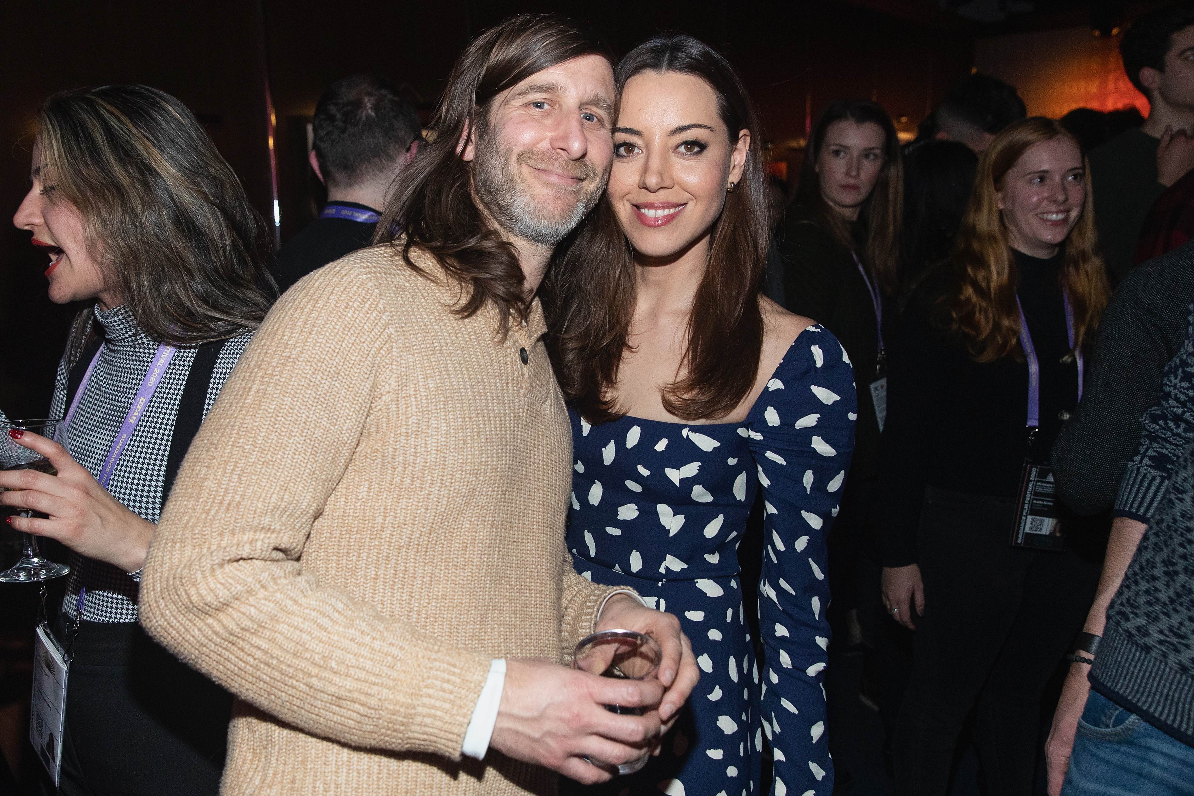 Lawrence Michael Levine and Aubrey Plaza at an event for Black Bear (2020)