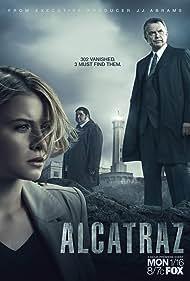 Sam Neill, Jorge Garcia, and Sarah Jones in Alcatraz (2012)