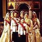 Greta Scacchi, Ian McKellen, Freddie Findlay, Zsofia Ivony, Patricia Kovács, Elena Malashevskaya, and Natasha Reshetnikova in Rasputin (1996)