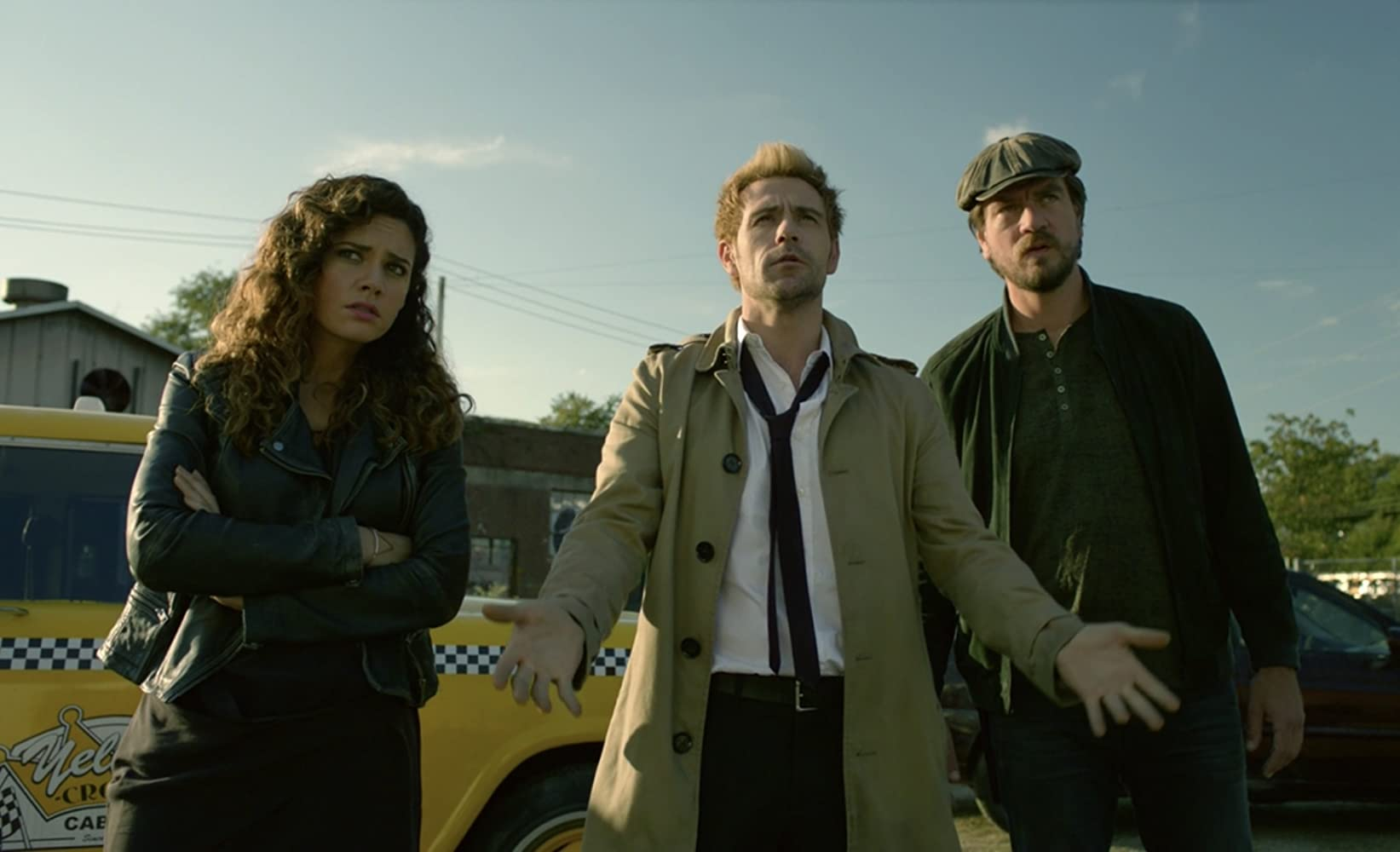 Charles Halford, Matt Ryan, and Angélica Celaya in Constantine (2014)