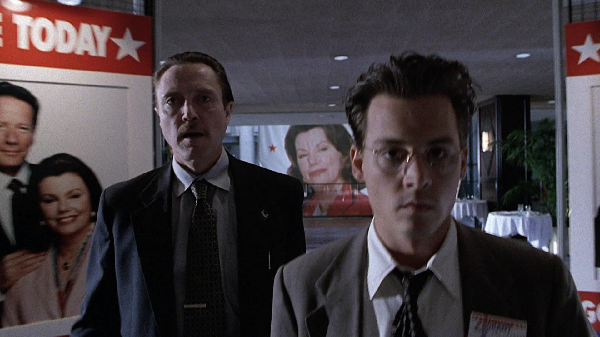 Johnny Depp and Christopher Walken in Nick of Time (1995)
