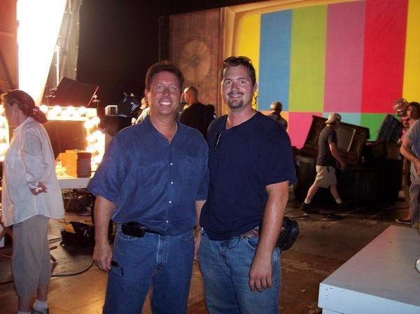 On set with Reggie Hayes