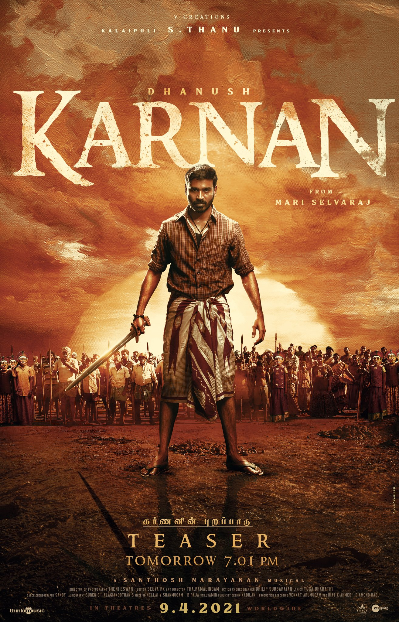 Karnan 2021 Tamil 720p AMZN HDRip ESubs 1.2GB Download