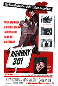 Gaby André, Wally Cassell, and Steve Cochran in Highway 301 (1950)