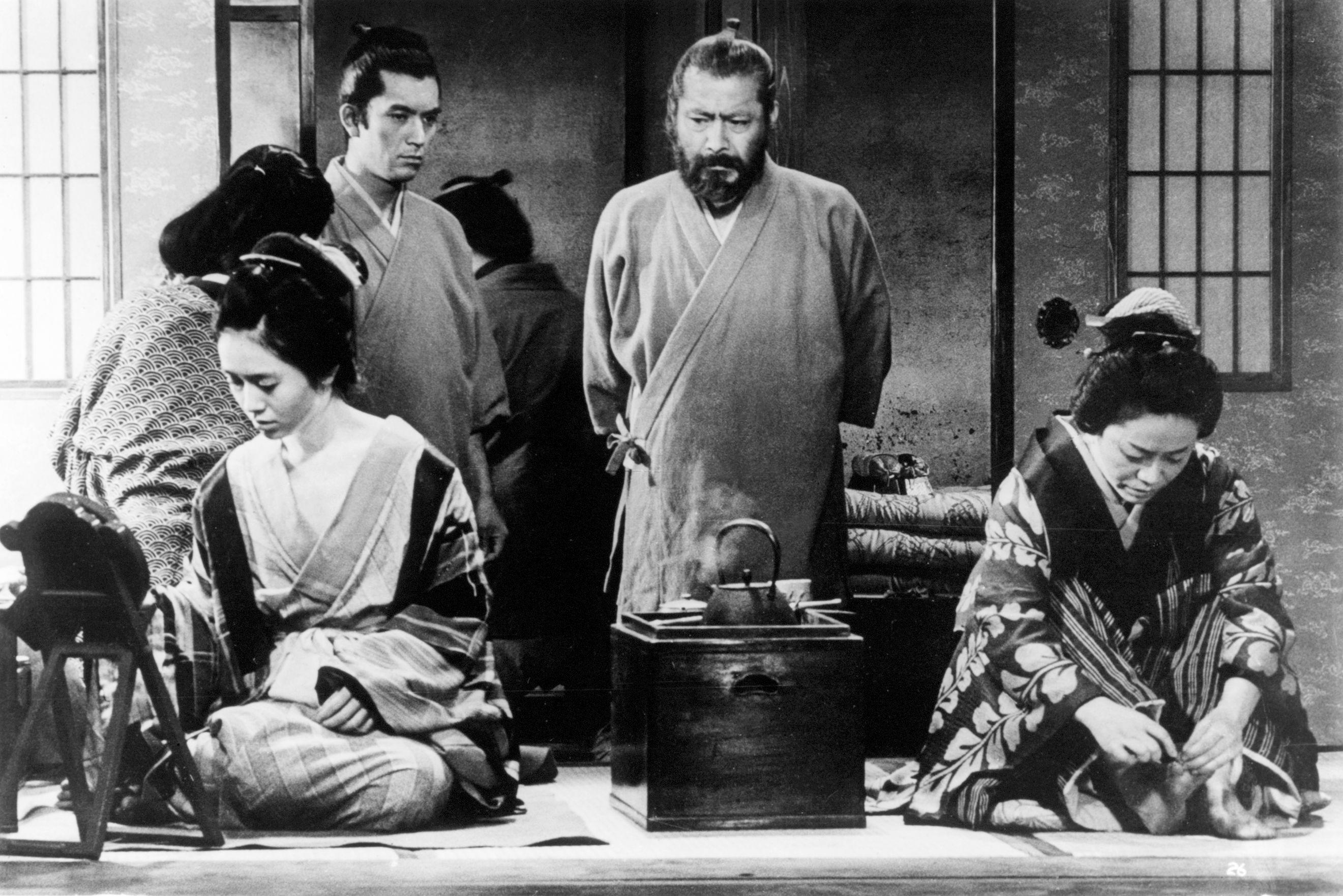 Toshirô Mifune, Yûzô Kayama, and Haruko Sugimura in Akahige (1965)