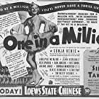 Don Ameche, Sonja Henie, Jean Hersholt, Arline Judge, Adolphe Menjou, Borrah Minevitch, Al Ritz, Harry Ritz, Jimmy Ritz, Ned Sparks, and The Ritz Brothers in One in a Million (1936)