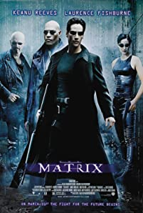 Keanu Reeves, Laurence Fishburne, Joe Pantoliano, and Carrie-Anne Moss in The Matrix (1999)