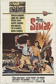 George Montgomery, Joan O'Brien, Ziva Rodann, and Gilbert Roland in Samar (1962)