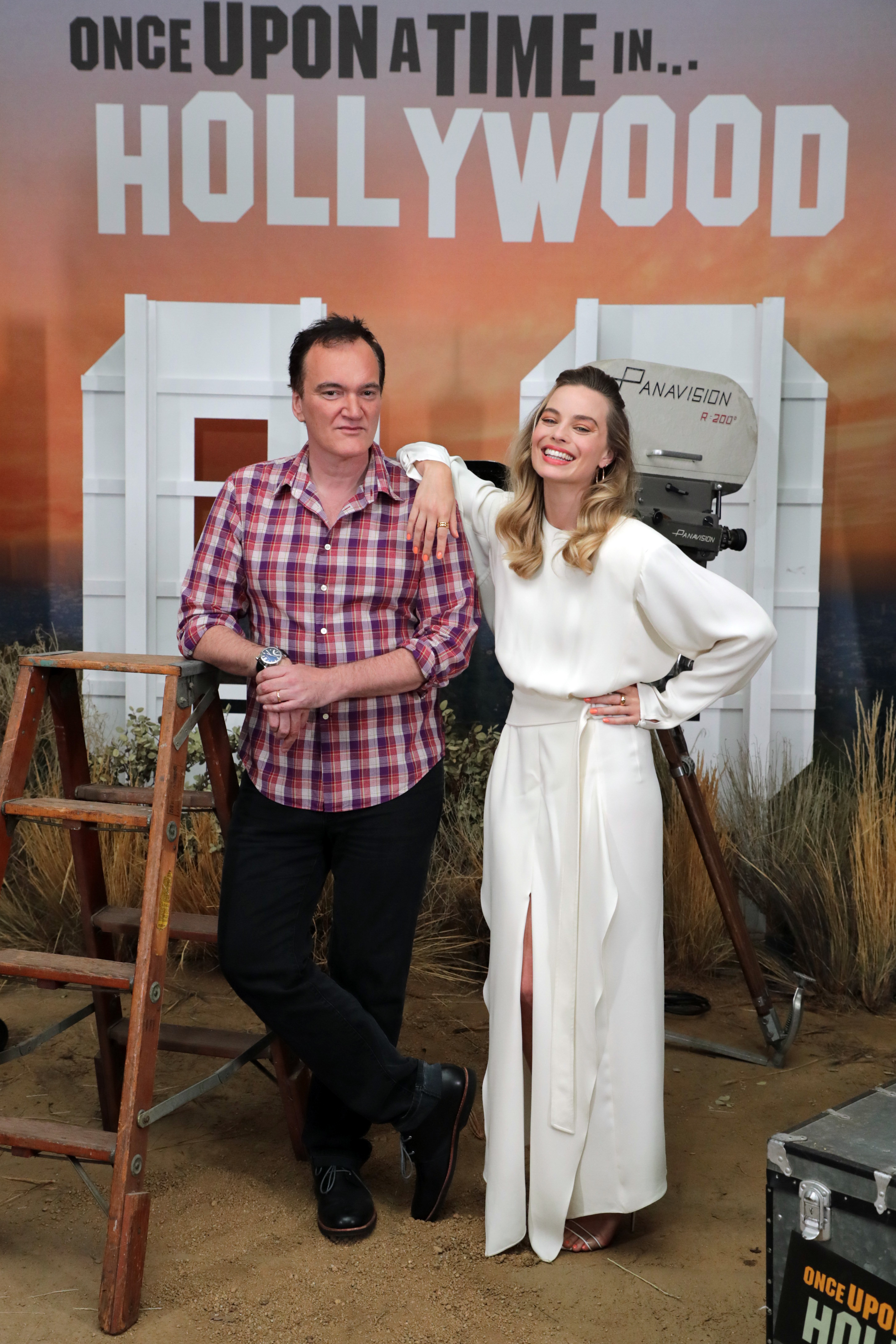 Quentin Tarantino and Margot Robbie at an event for Once Upon a Time in Hollywood (2019)