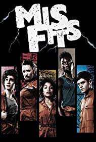 Robert Sheehan, Lauren Socha, Nathan Stewart-Jarrett, Antonia Thomas, and Iwan Rheon in Misfits (2009)