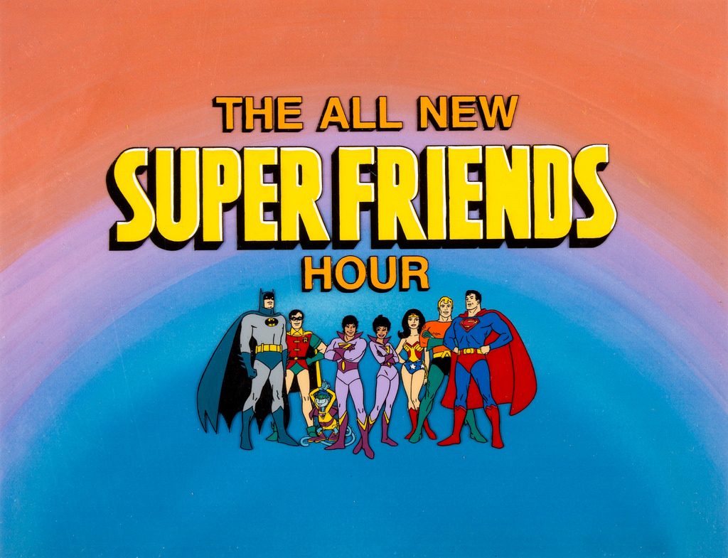 Norman Alden, Michael Bell, Danny Dark, Shannon Farnon, Casey Kasem, Olan Soule, and Louise Williams in The All-New Super Friends Hour (1977)