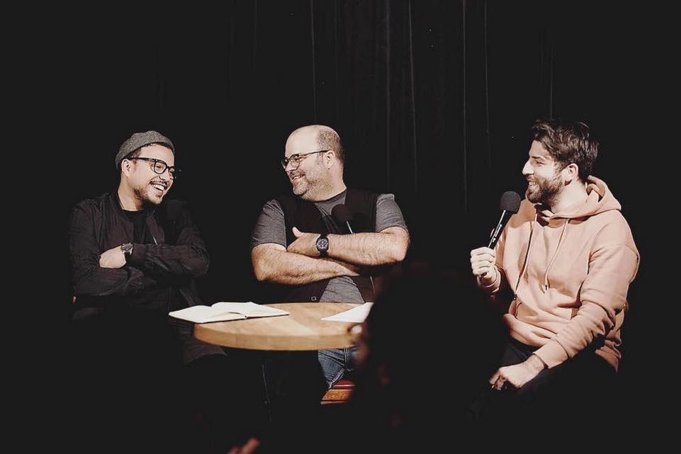 Laurent Paquin, Yannick De Martino, and Mehdi Bousaidan in Ça ou Ça (2017)