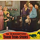 John Wayne, Ray Corrigan, Billy Curtis, Carole Landis, Collette Lyons, and Max Terhune in Three Texas Steers (1939)