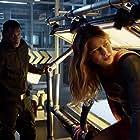 David Harewood, Melissa Benoist, and Jeremy Jordan in Supergirl (2015)