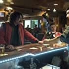 Seth MacFarlane, Tom Archdeacon, Adam Driver, and Alex Ross in Logan Lucky (2017)