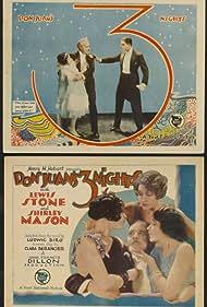 Alma Bennett, Natalie Kingston, Shirley Mason, Malcolm McGregor, and Lewis Stone in Don Juan's 3 Nights (1926)