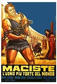 Raffaella Carrà, Mark Forest, Moira Orfei, and Paul Wynter in Maciste, l'uomo più forte del mondo (1961)