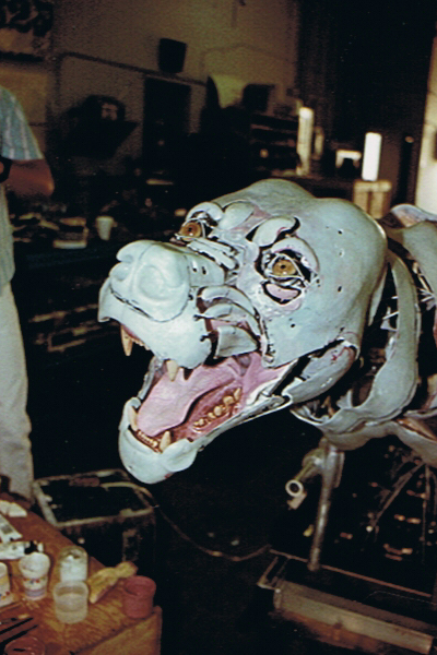 Animatronic Lion Chassis. Created by All Effects Company