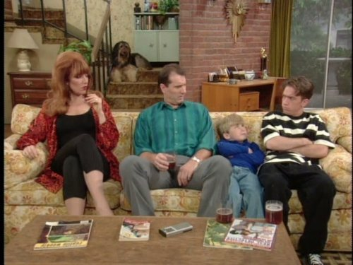 David Faustino, Katey Sagal, Ed O'Neill, and Shane Sweet in Married with Children (1987)
