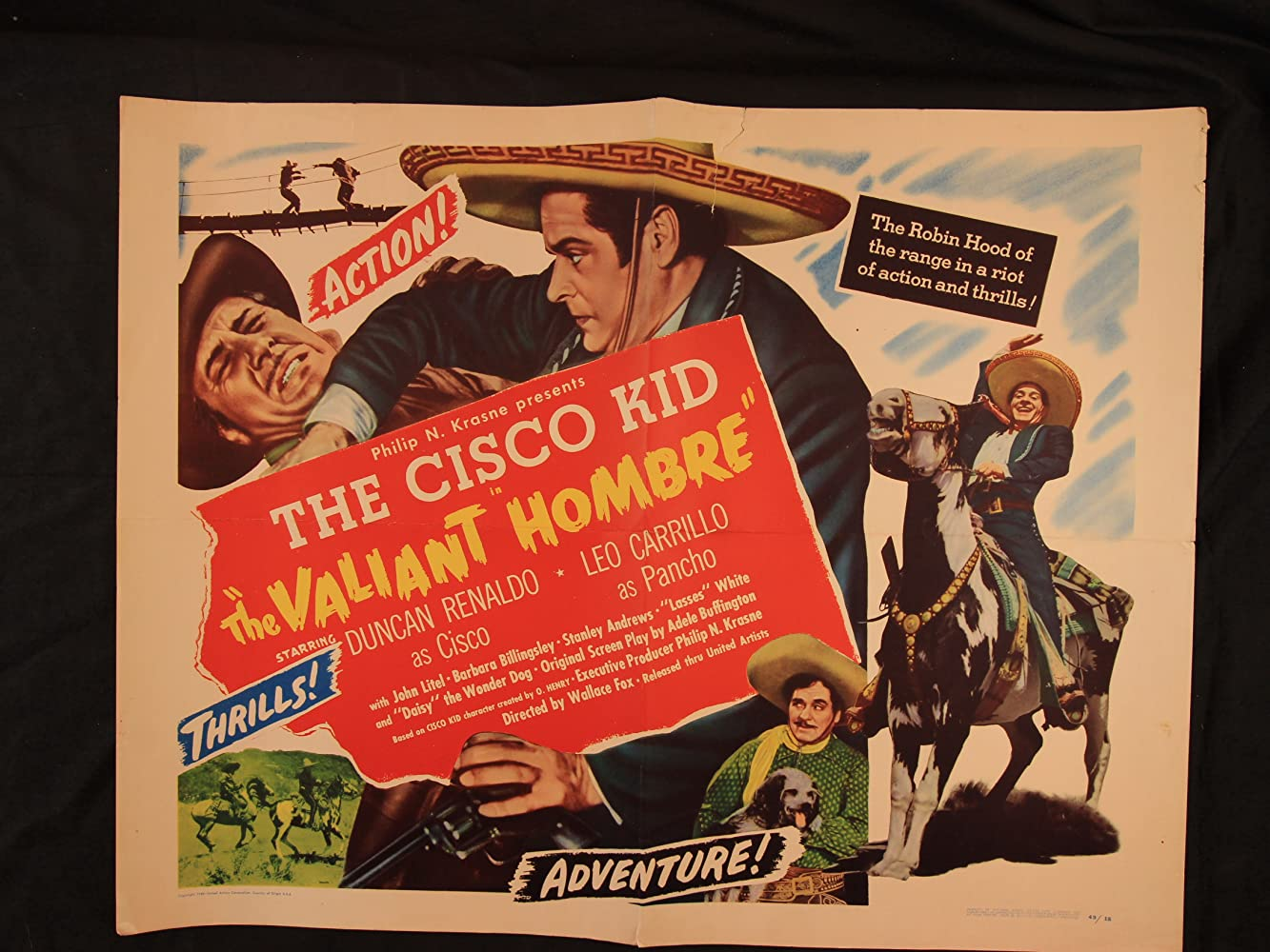 Leo Carrillo, Terry Frost, and Duncan Renaldo in The Valiant Hombre (1948)