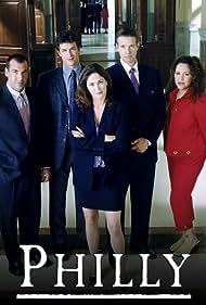 Kim Delaney, Kyle Secor, Rick Hoffman, Diana Maria Riva, and Tom Everett Scott in Philly (2001)