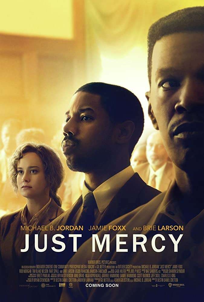 Jamie Foxx, Michael B. Jordan, and Brie Larson in Just Mercy (2019)