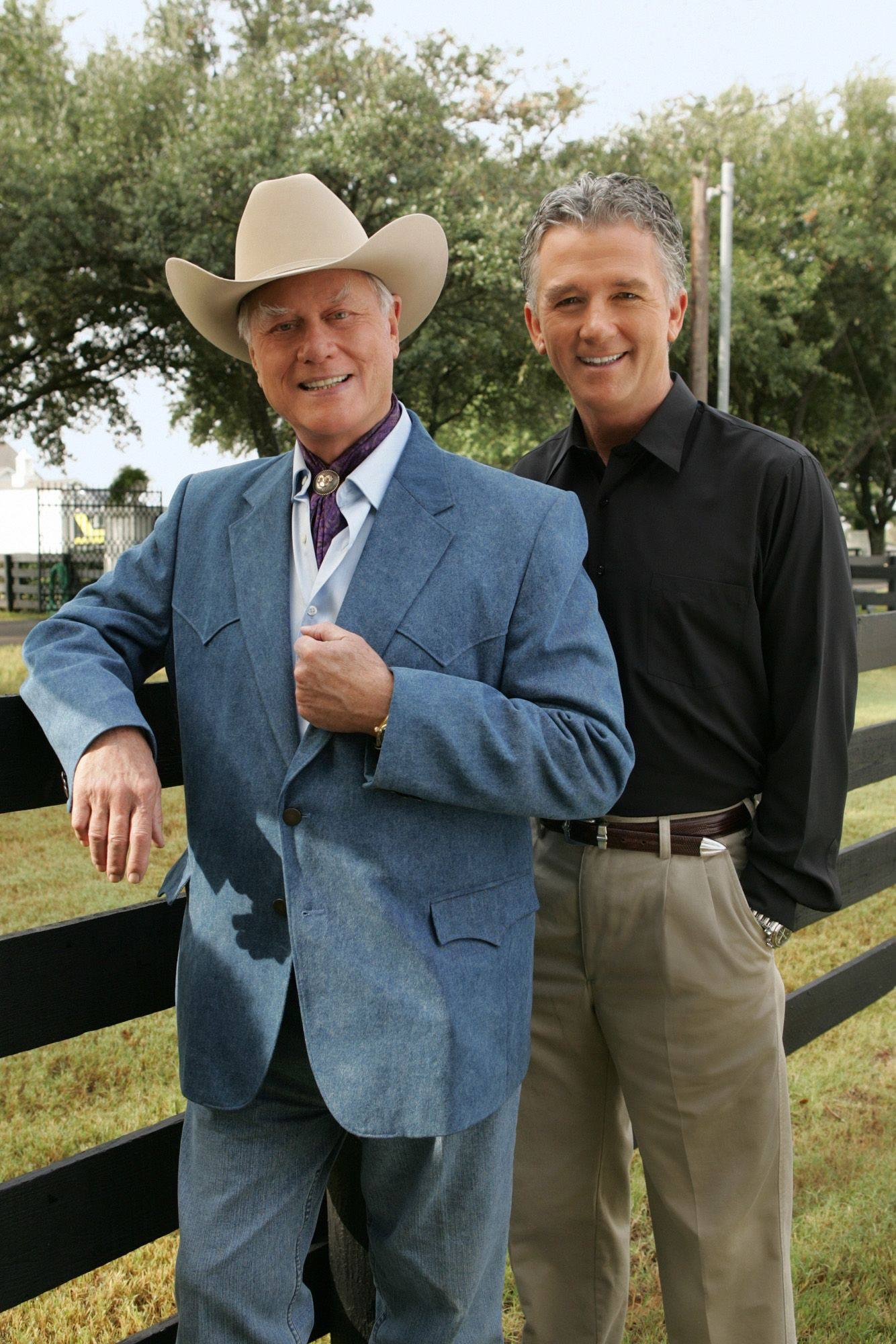 Patrick Duffy and Larry Hagman in Dallas Reunion: Return to Southfork (2004)