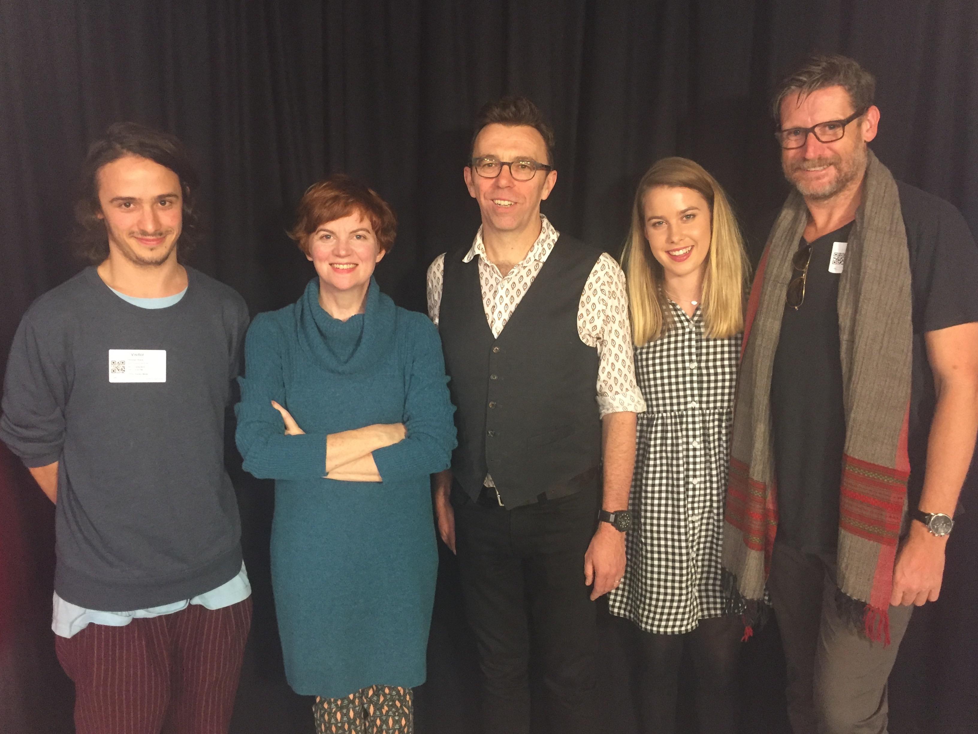 (L-R) Christian Byers, Sofya Gollan, Karl Quinn, Bridie McKim, Morgan Smallbone at Fairfax Media to discuss 'Gimpsey'