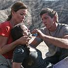 Claudia Christian, Joe Lando, and Madison McLaughlin in Meteor Apocalypse (2010)