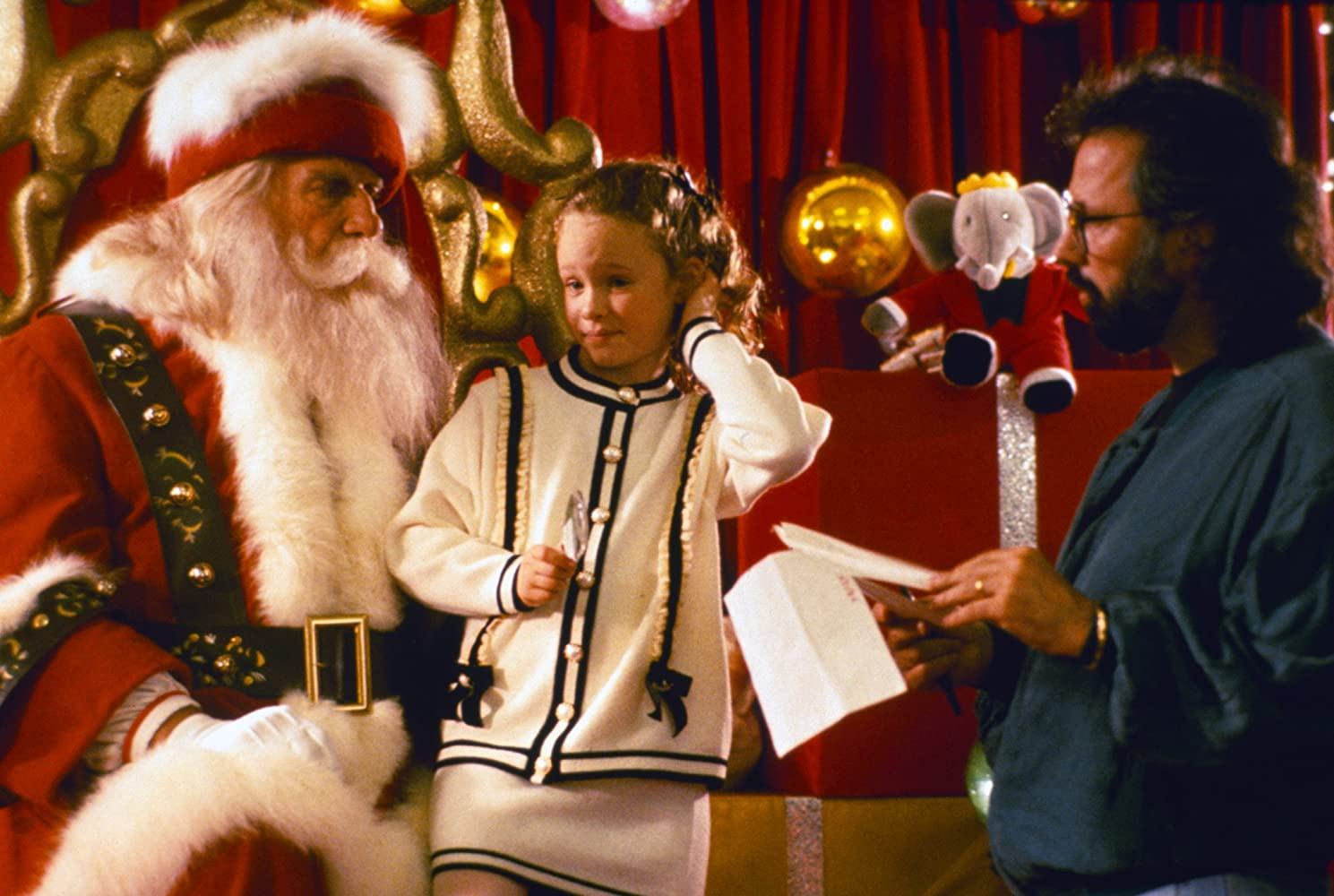 thora birch leslie nielsen and robert lieberman in all i want for christmas - All I Want For Christmas 1991
