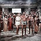 Gabriele Antonini, Sylva Koscina, and Steve Reeves in Ercole e la regina di Lidia (1959)
