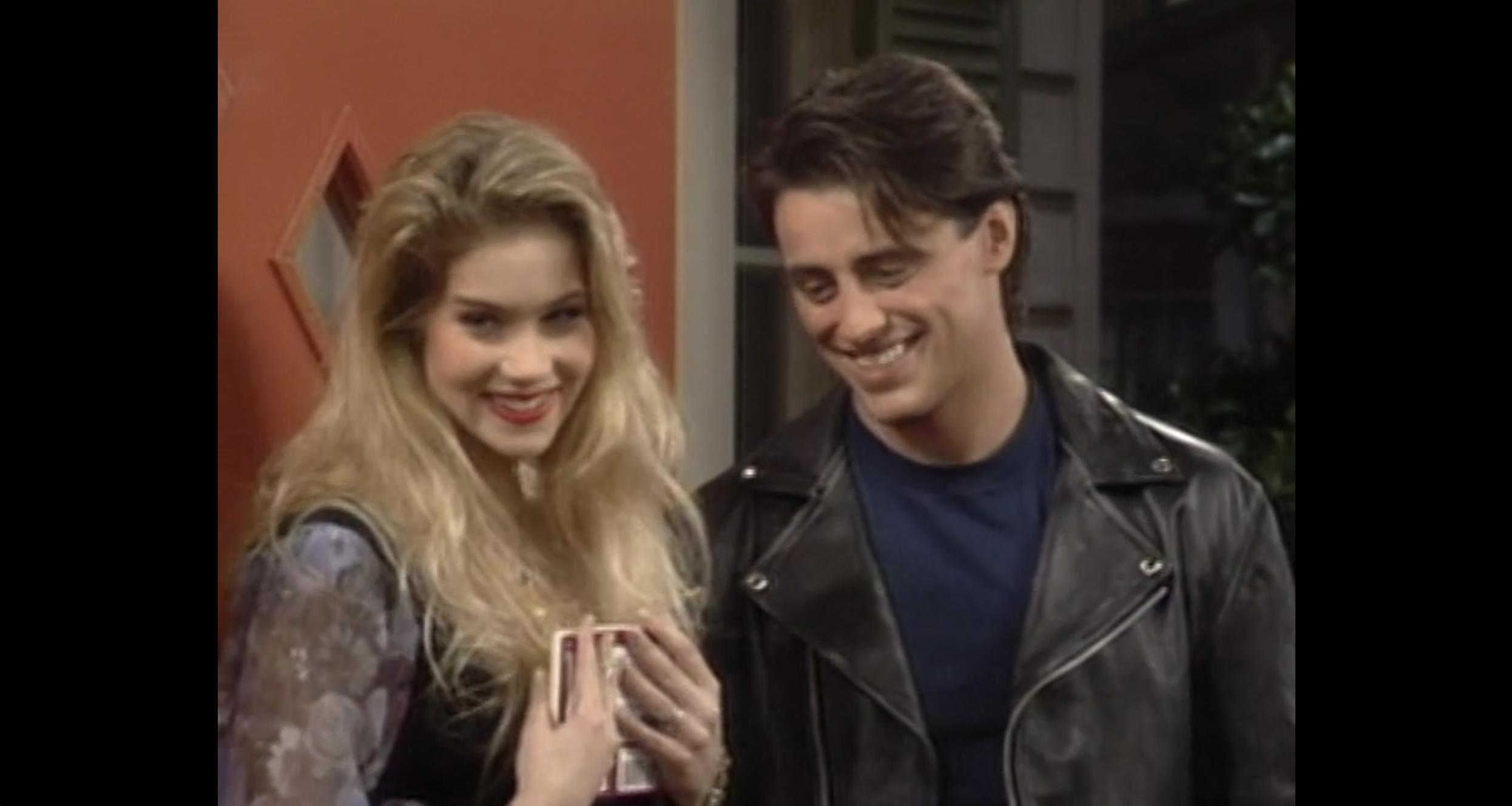Christina Applegate and Matt LeBlanc in Married with Children (1987)