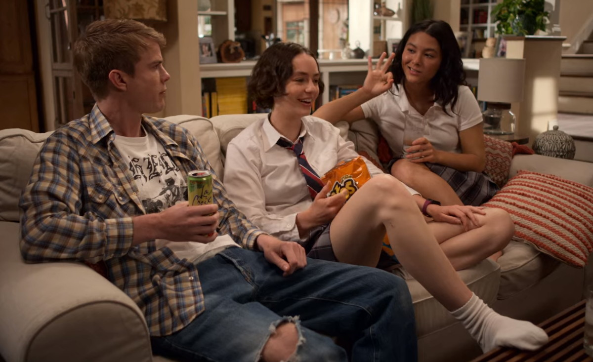 Fivel Stewart, Graham Rogers, and Brigette Lundy-Paine in Atypical (2017)