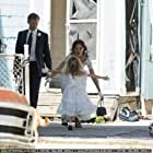 Katie Holmes, James Badge Dale, and Ava Kolker on the set of Miss Meadows
