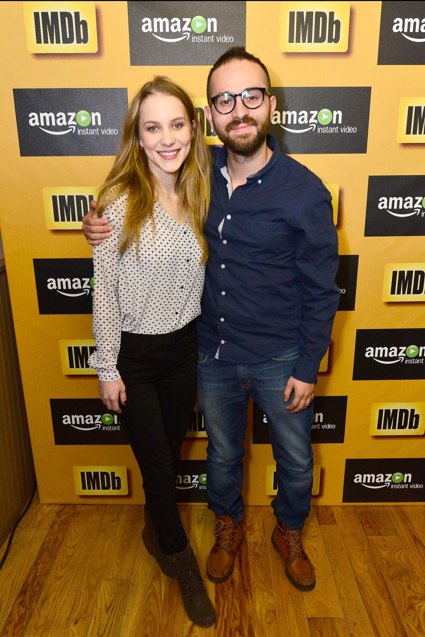 José Manuel Cravioto and Tina Ivlev at an event for The IMDb Studio at Sundance (2015)