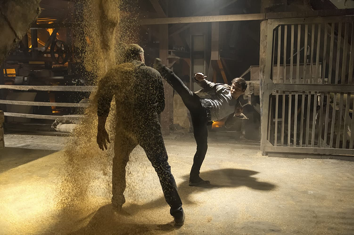 Dolph Lundgren and Tony Jaa in Skin Trade (2014)