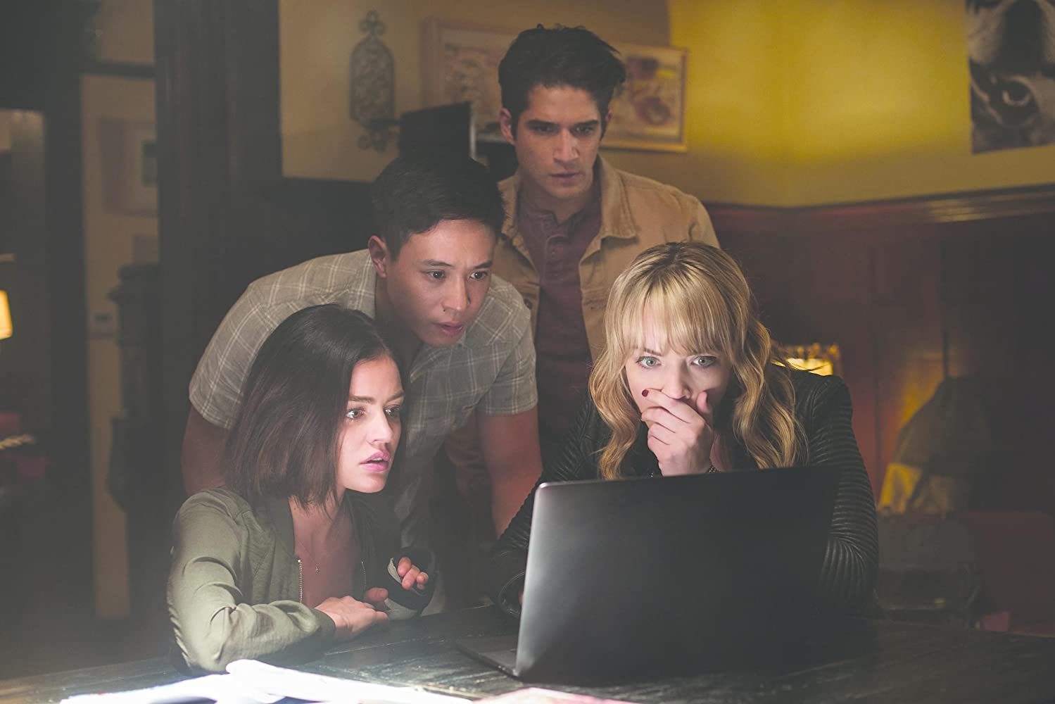 Tyler Posey, Lucy Hale, Hayden Szeto, and Violett Beane in Truth or Dare (2018)